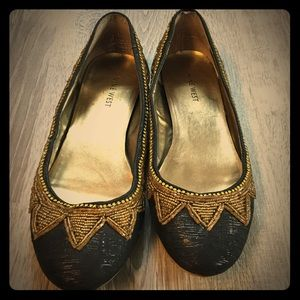 Nine West Beaded Detail Ballet Flats Size 8